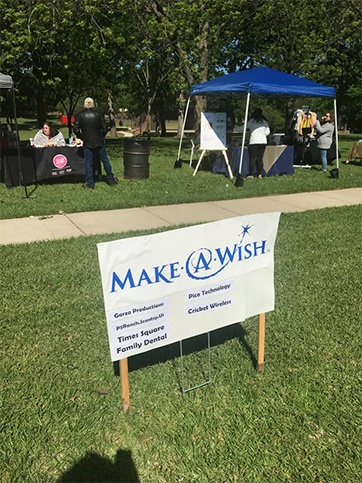Make a Wish Foundation sign