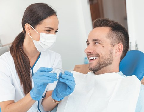 Patient and Tyler dentist discuss Invisalign in Tyler